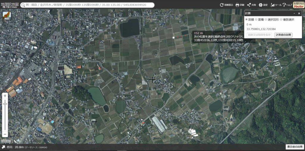 伊豫岡八幡宮周辺の地割